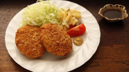 日本深夜食堂太好吃,厨师现场做炸肉饼,把人看得口水直流