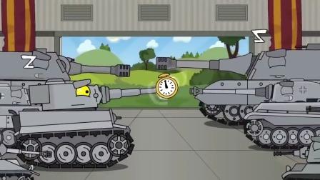 坦克动画:坦克恶魔出现了,竟吃同类,一口一个绿坦克