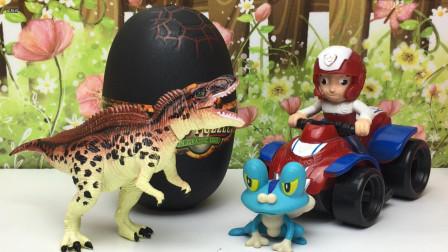 侏罗纪恐龙扭蛋,汪汪队立大功拼仿真积木恐龙!