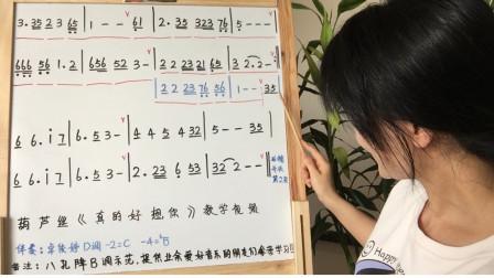 《真的好想你》八孔葫芦丝教学,第二课,步骤详解