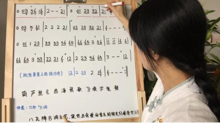 八孔葫芦丝《西海情歌》教学视频,第二课,步骤详解