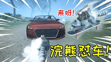 脚踩滑板跟车对撞的浣熊你见过吗?帮派大危机!007居然是这意