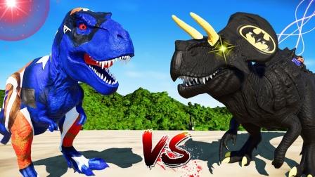 侏罗纪世界进化:三角龙vs暴龙,强势的碰撞