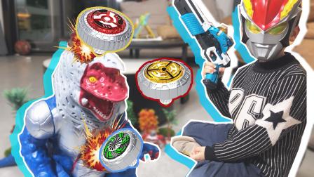 真人罗索奥特曼降临!超级灵动雷影陀螺枪,六连发击败哥尔赞