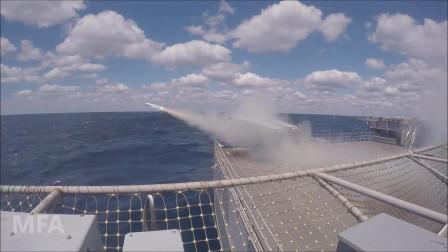 福特号航空母舰(CVN 78)上进行RIM-162海麻雀导弹发射测试(3326)