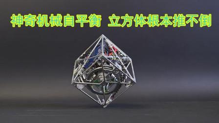 神奇的机械自平衡,正立方体根本推不倒!