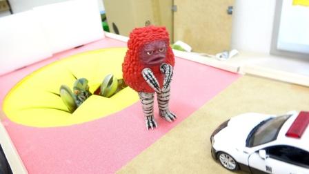 汽车工程车玩具故事:好奇怪!怪兽为何阻挡救护车通过?