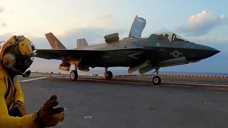 """""""美国""""号两栖攻击舰(LHA 6)地勤人员进行甲板起降操作(3327)"""