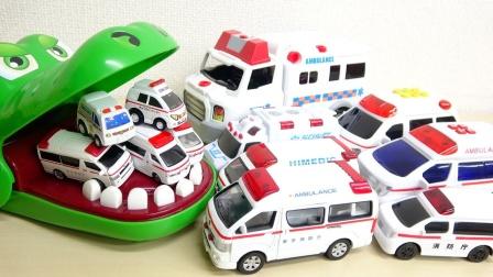 汽车工程车玩具故事:太不可思议了!救护车居然还能变身?