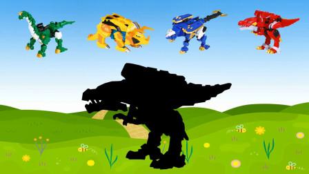 心奇爆龙战车来到恐龙世界,暴龙,三角龙和甲龙