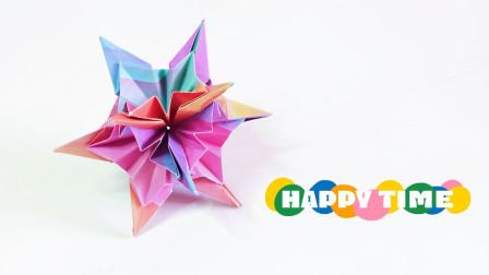 折纸教程:简单好看的花球,辐射光芒万丈