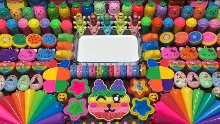 太可爱了!挑战凯蒂猫主题混泥,搭配猫咪卡通黏土等,无硼砂超美
