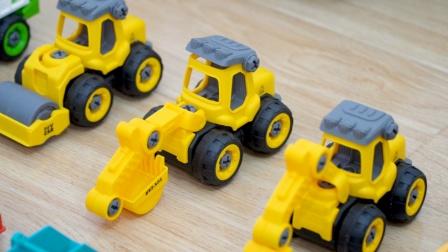 汽车玩具:挖掘机、垃圾车、起重机、混凝土运输车,工程车模型