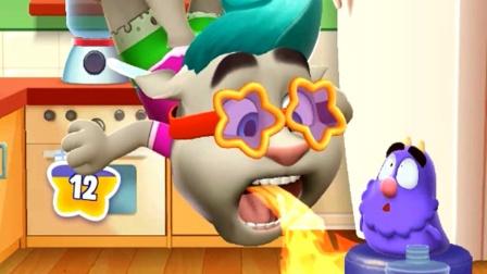 汤姆猫吃辣椒嘴巴喷火 我的汤姆猫2