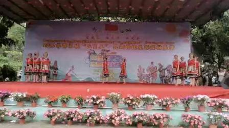 2021年广西壮乡防城区那良镇三月三民歌节那良艳艺舞蹈队表演《壮乡是个幸福海》