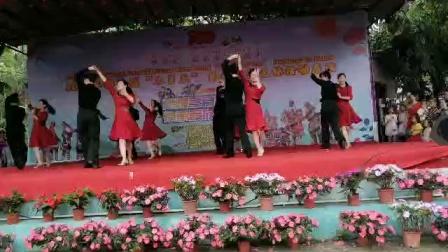 2021年广西壮乡防城区那良镇三月三民歌节那良文化站舞蹈队双人舞表演《春暖花开》