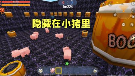 迷你世界:变成小猪藏在猪群里,表妹能不能认出表哥救他出来?