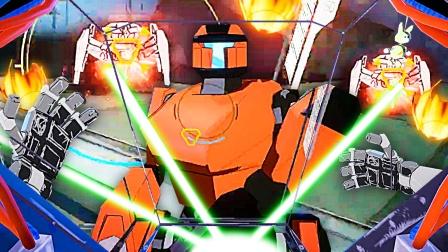 钢铁机器人 我拔出大光剑飞到空中学会使用如来神剑 成哔哔解说