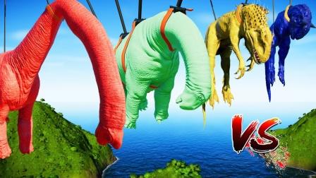 侏罗纪世界进化:食肉牛龙逆袭击败暴虐龙