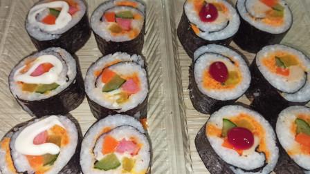 寿司做法原来这么简单,好吃好看出去玩带一些很不错
