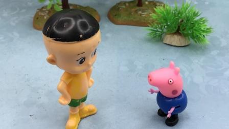 大头和白雪都告诉乔治猪爸爸偷吃东西了,乔治也不敢告状了!