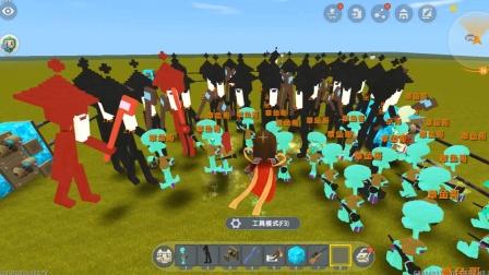 迷你世界飞龙解说:50个章鱼哥大战50个巫师