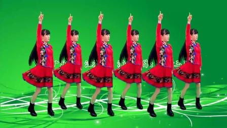 32步广场舞《江湖酒》曲子铿锵有力,舞蹈简单易学
