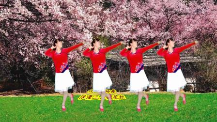 广场舞《浪漫三月桃花红》歌曲旋律优美,唯美甜蜜,醉美心扉