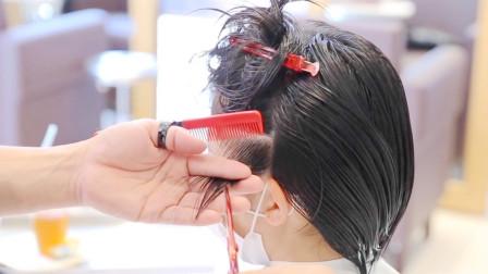 """很实用的""""露耳短发"""",动感时尚好打理,非常适合27到47岁女性"""