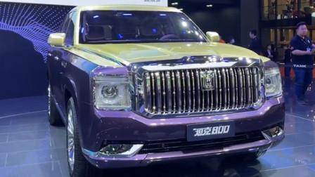 国产库里南,2021款长城坦克800上海车展实拍,看这颜值太帅了