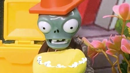 #植物大战僵尸僵尸很饿,把剩下的玉米拿回家了