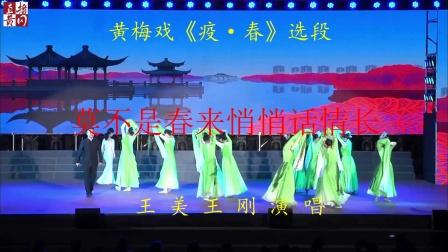 黄冈艺校在党史学习教育文艺展演晚会表演黄梅戏《疫.春》遗爱湖片段