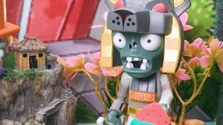 #植物大战僵尸僵尸想偷西瓜,结果被发现了
