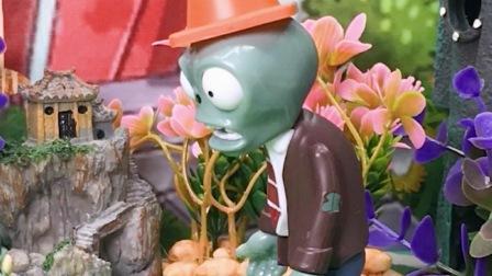 #植物大战僵尸小鬼捡到钱了,被僵尸抢走了