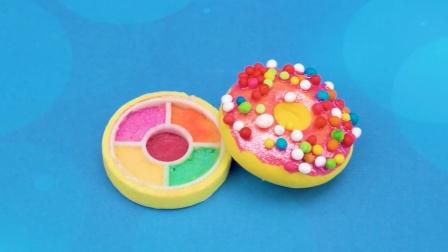 DIY手工:制作迷你甜甜圈眼影盘