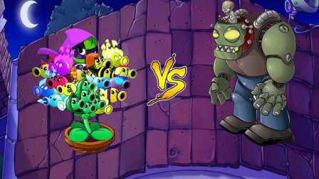 只用一个坑位能否打败僵尸J博士呢?植物大战僵尸