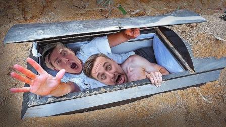人躺进棺材埋入土中24小时,会发什么?结果太意外了!