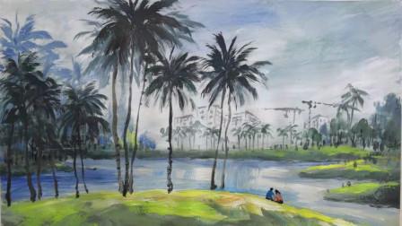 儋州花果山风景画示范3