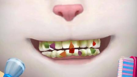 我的安吉拉-吃完点心的安吉拉,牙齿又不干净了