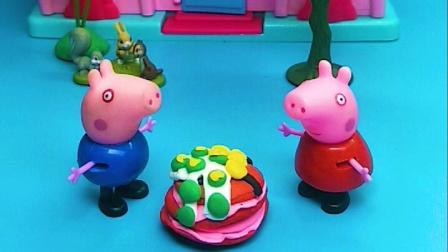 乔治不给佩奇吃蛋糕,佩奇不给乔治冰激凌