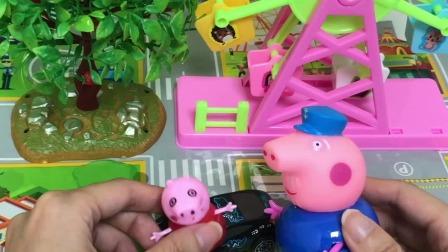 小猪佩奇:佩奇开车睡着了,被交警叔叔批评了