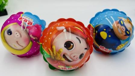 猪猪侠奇趣蛋魔力球玩具蛋,拆到海底小纵队达西西的照相机!