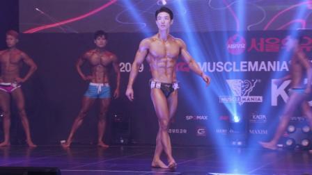 肌肉狂热运动,模特李元俊