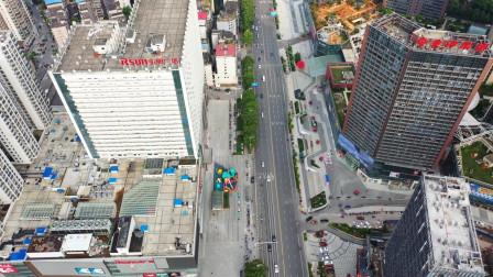 航拍衡阳金钟大雁城 弘阳广场,老城区船山大道崛起的新商业中心