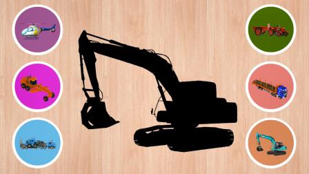 认识滚筒筛沙斗,木材运输车等工程车
