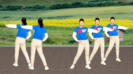 健身操《映山红》正背面演示更易学,每天坚持,瘦身塑型看得见