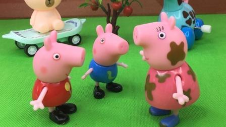 明天要下雨了,猪妈妈给佩琪和乔治拿厚衣服,结果乔治不爱穿
