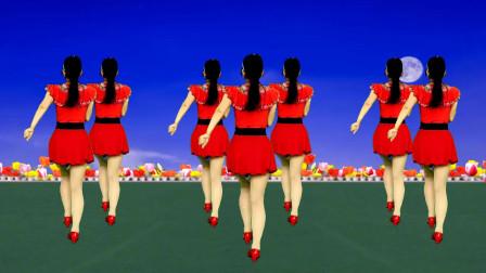 广场舞《小爱河》歌曲旋律优美,舞蹈简单好看