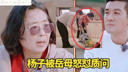 安麟撒泼打滚还踹黄圣依,杨子埋怨把孩子养废了,遭岳母怒怼质问