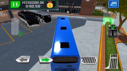 汽车巴士城市驾驶停靠:大巴车公共汽车站停靠驾驶